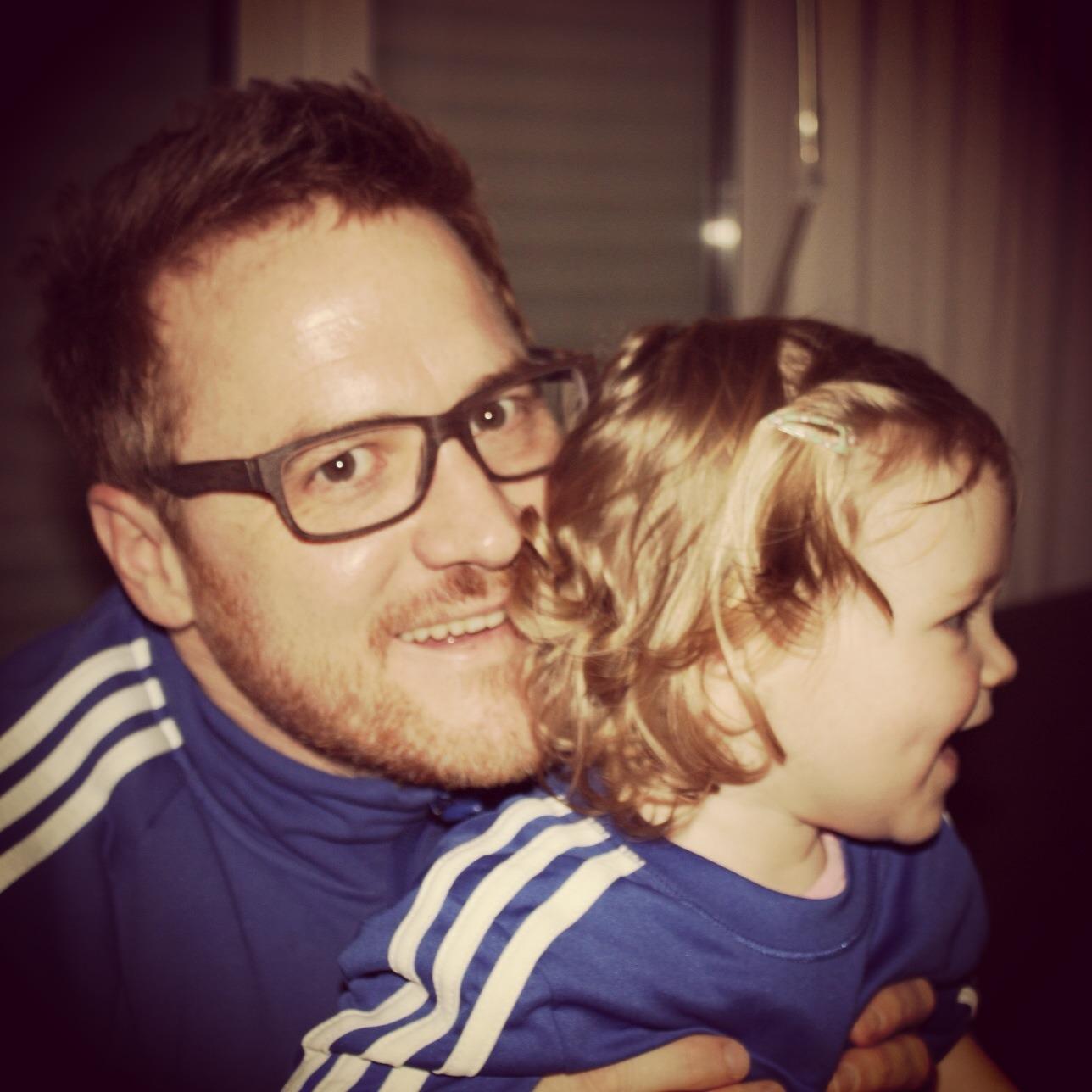 Herr Biermann mit Tochter